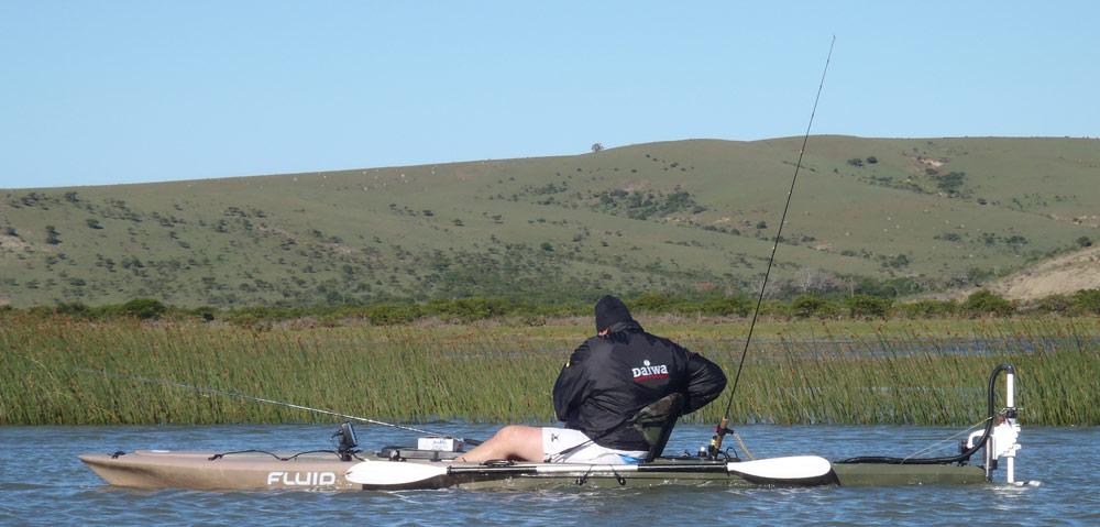 Bamba kayak with 54lb bass motor