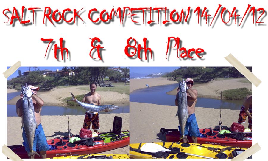 Bert & Brian kayak fishing competition
