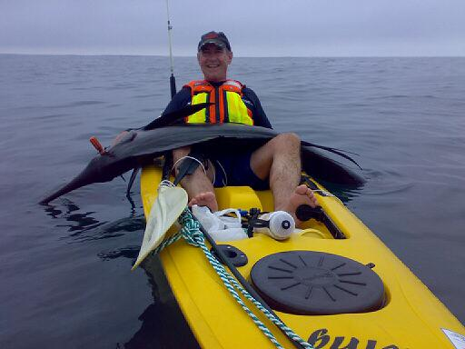 Bert Sailie caught from kayak