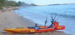 bamba kayak on the beach