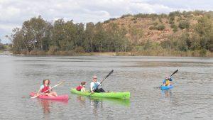kayaking fanily