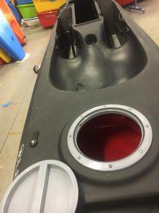 waterproof rear hatch insert