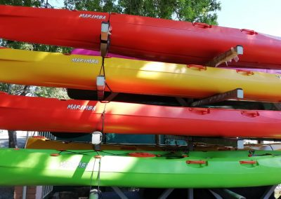 marimba kayaks stacked