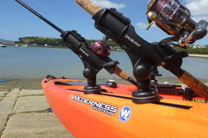 Keeps reels out the water and 360 degree adjustable